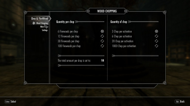 Ores And Firewood Menu