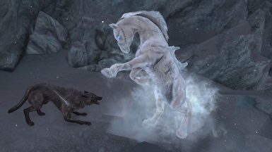 Hoarfrost fighting Wolf