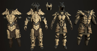 Frankly HD Dragonbone and Dragonscale - Armor and Weapons