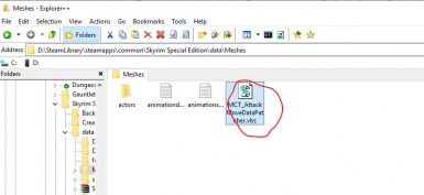 Run MCT_AttackMoveDataPatcher in MO2's Virtual Directory