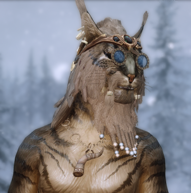 Beast Hair Horn and Beard - Vanilla Based - Hair Replacer for Khajiit and Argonian