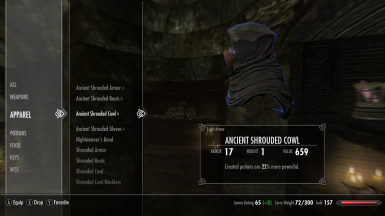 ANCIENT SHROUDED COWL