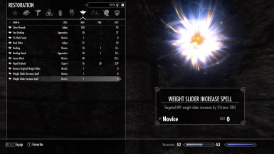 Weight Slider Spells
