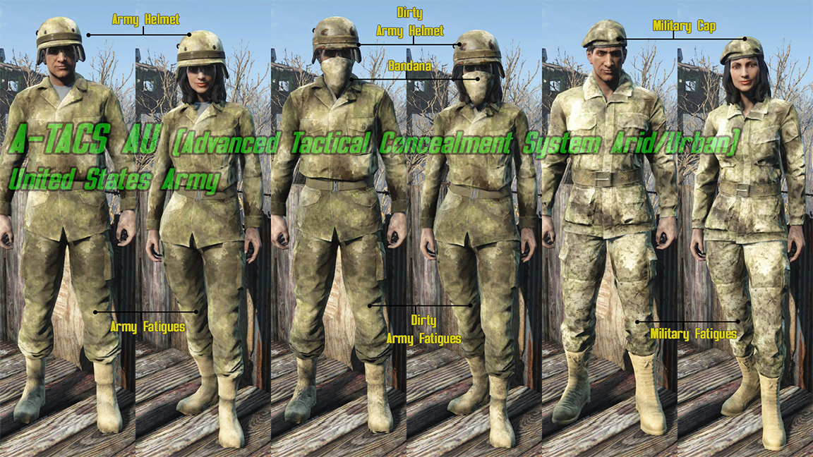 All Camo Uniforms At Fallout 4 Nexus Mods And Community
