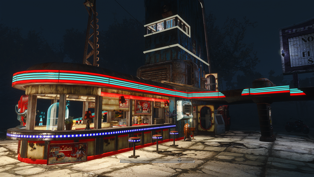 Fallout 4 Wall Light Not Working : Starlight Drive-In And Diner - Lighting at Fallout 4 Nexus - Mods and community