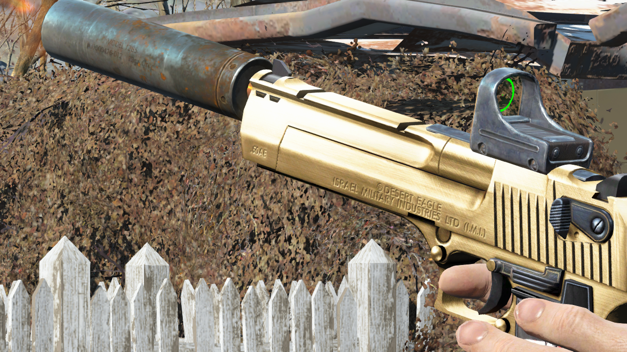 Desert Eagle Silencer and Other Mods at Fallout 4 Nexus ...