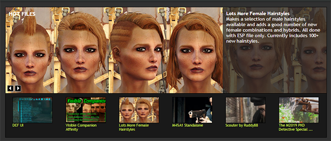 Lots More Female Hairstyles at Fallout 4 Nexus - Mods and community
