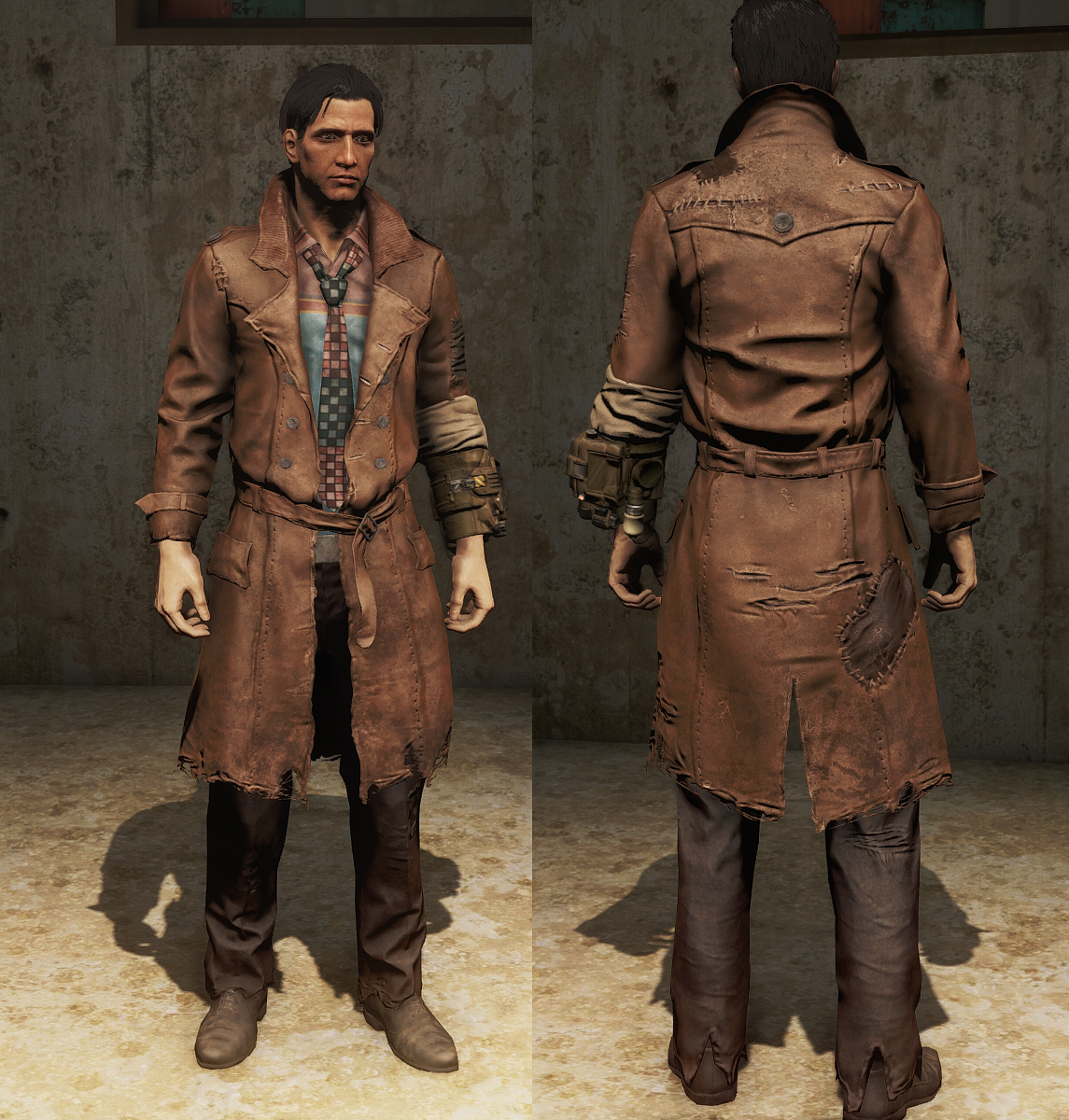 deckard trenchcoat blade runner at fallout 4 nexus