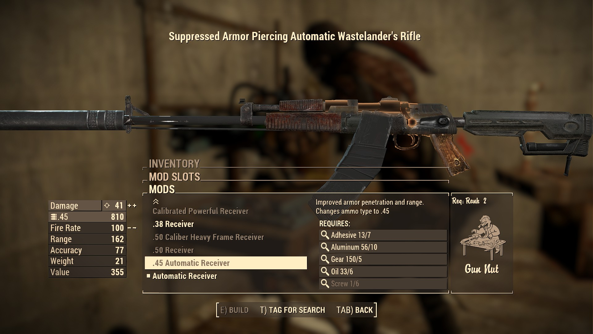 Fallout  Automatic Weapon Build