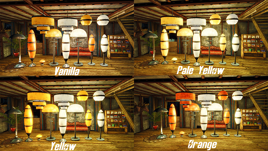 Better High Tech Lights on off switch bugfix and more at Fallout