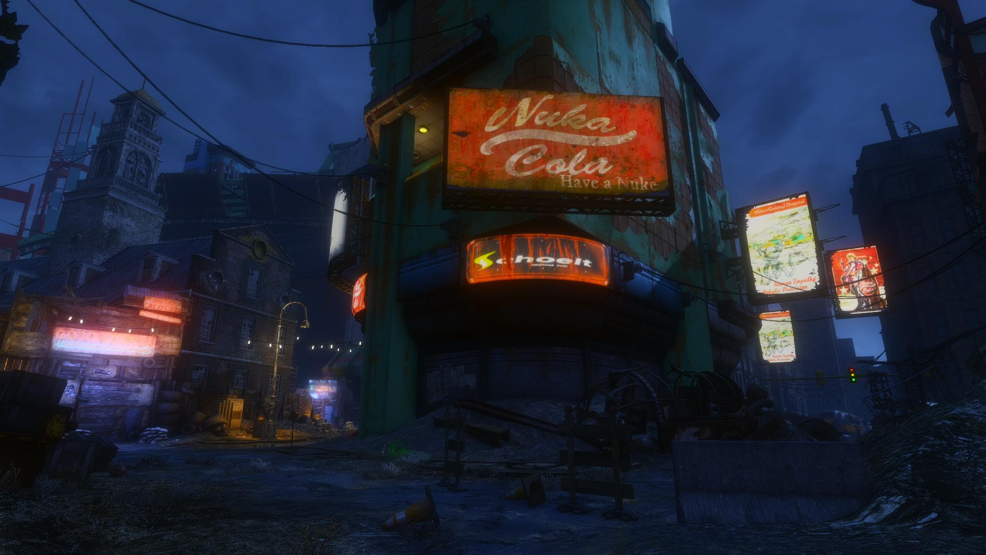 How To Use Wall Lights Fallout 4 : Illuminated Billboards - Lighting at Fallout 4 Nexus - Mods and community