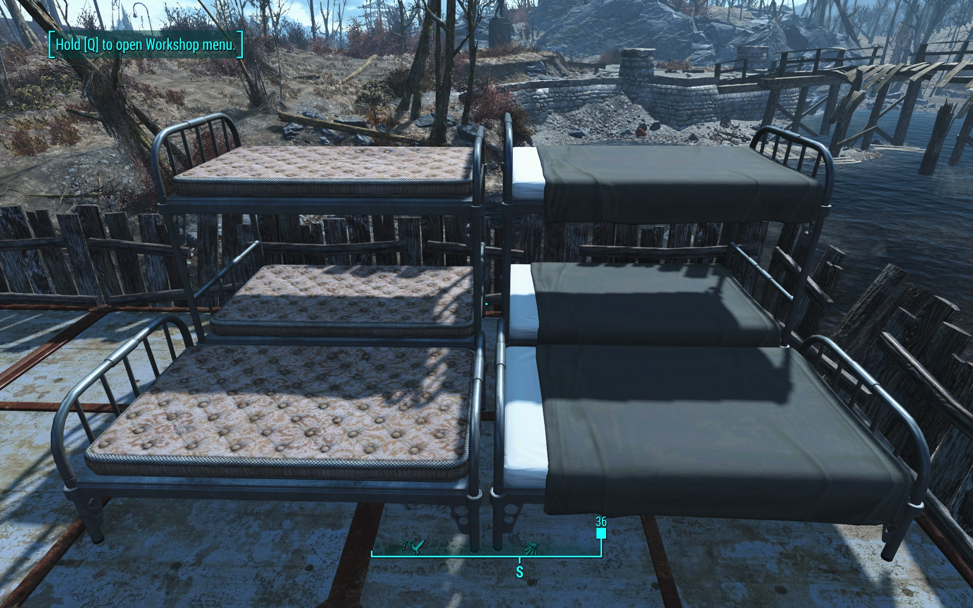 fallout 4 how to build beds