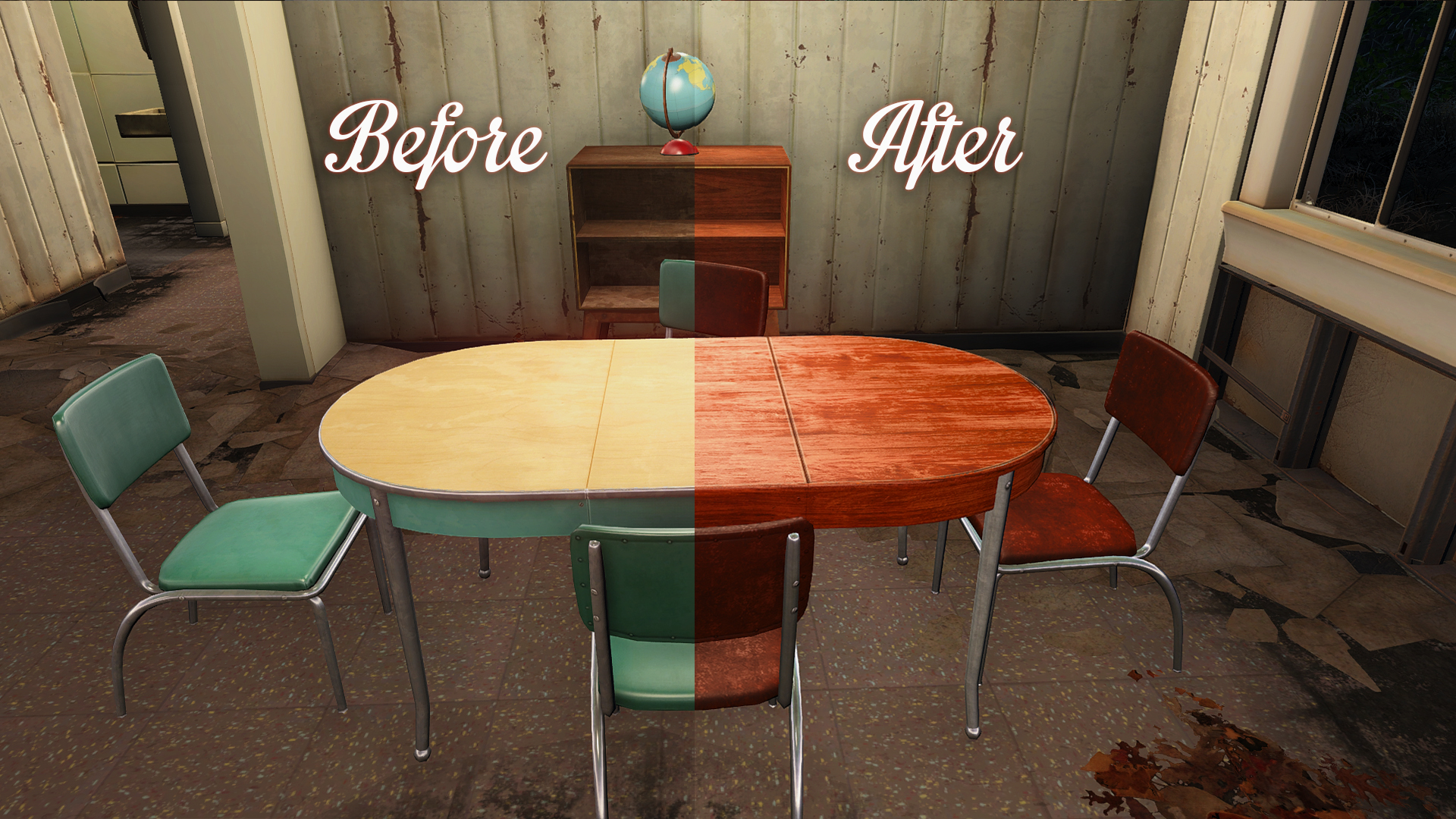 Pre war retextures 4k at fallout 4 nexus mods and community for Furniture 4 your home