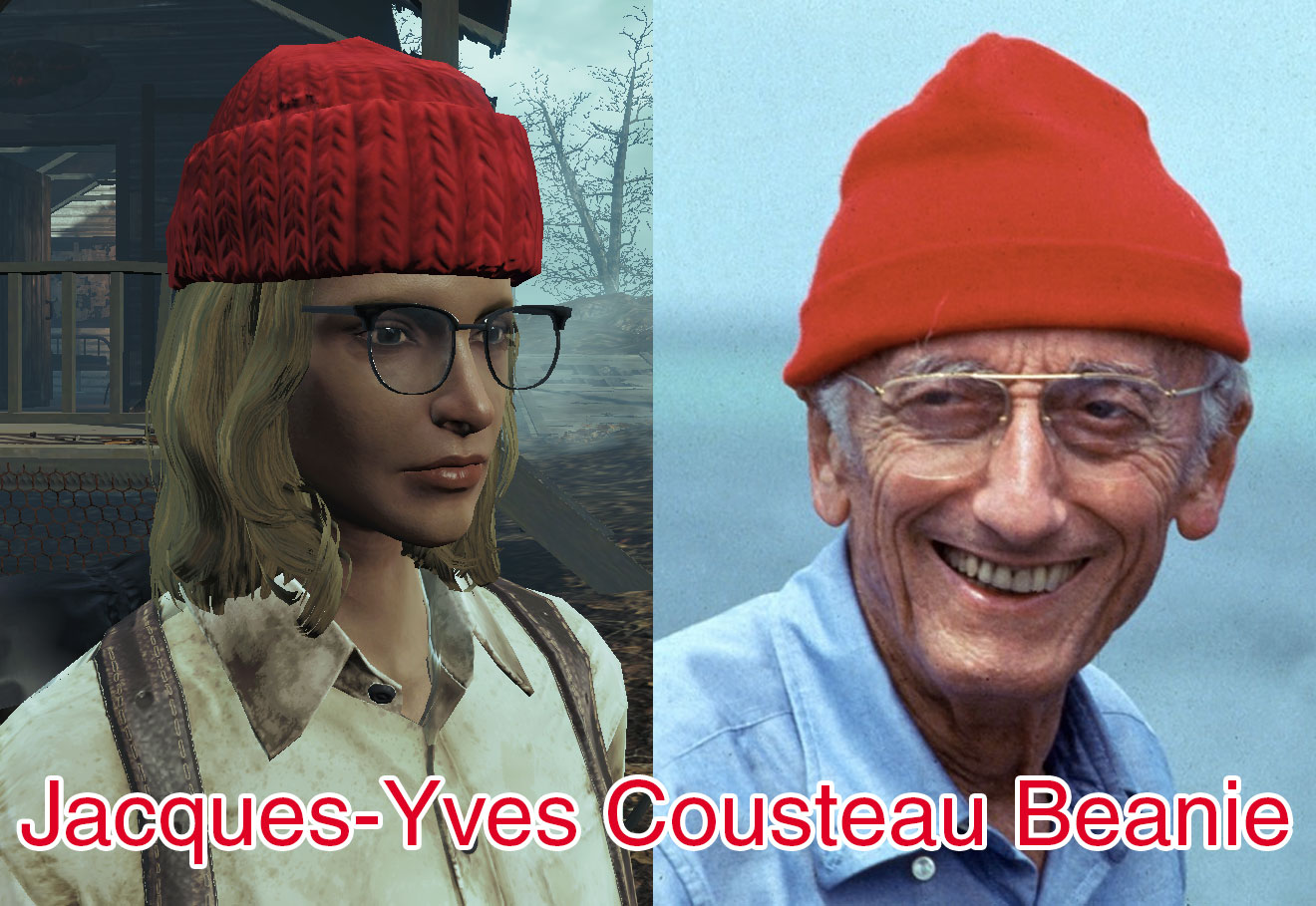 Jacques-Yves Cousteau s Wool Fisherman s Cap at Fallout 4 Nexus ... f5faf2ad65a
