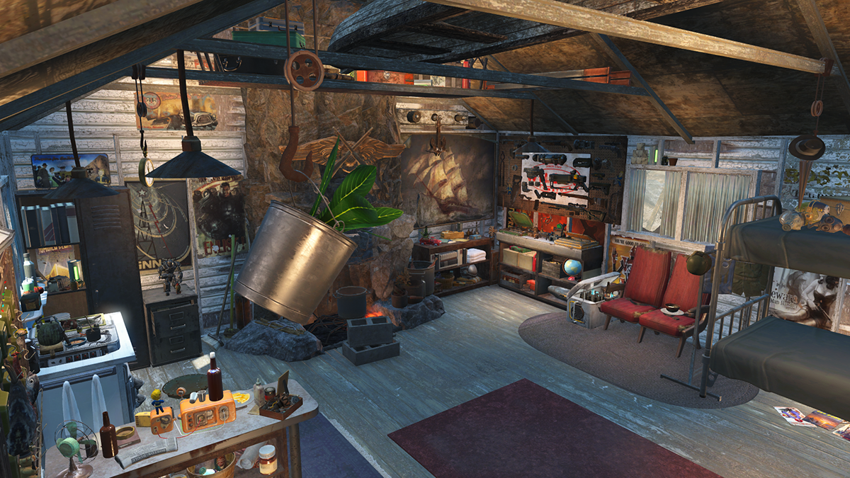 Gorski cabin overhaul at fallout 4 nexus mods and community for Fallout 4 interior decorating