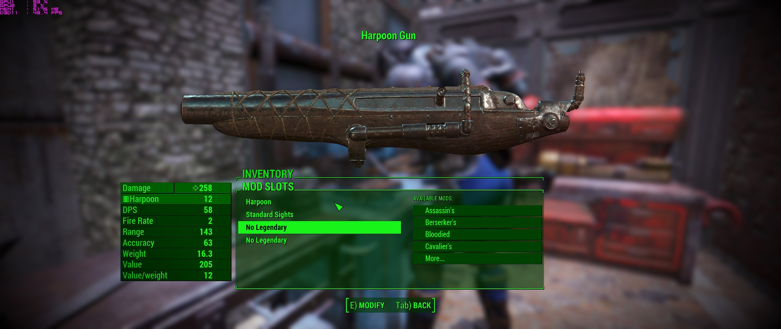 how to add legendary effects fallout 4