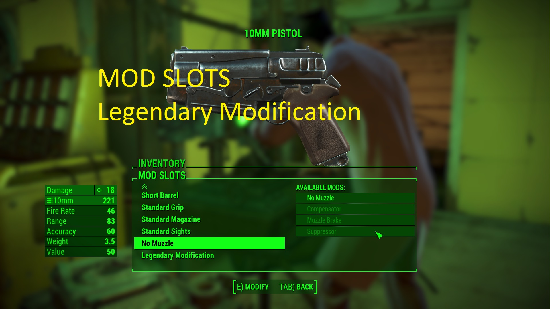 Legendary Modification 1.75 Traduction FR at Fallout 4 Nexus - Mods and community