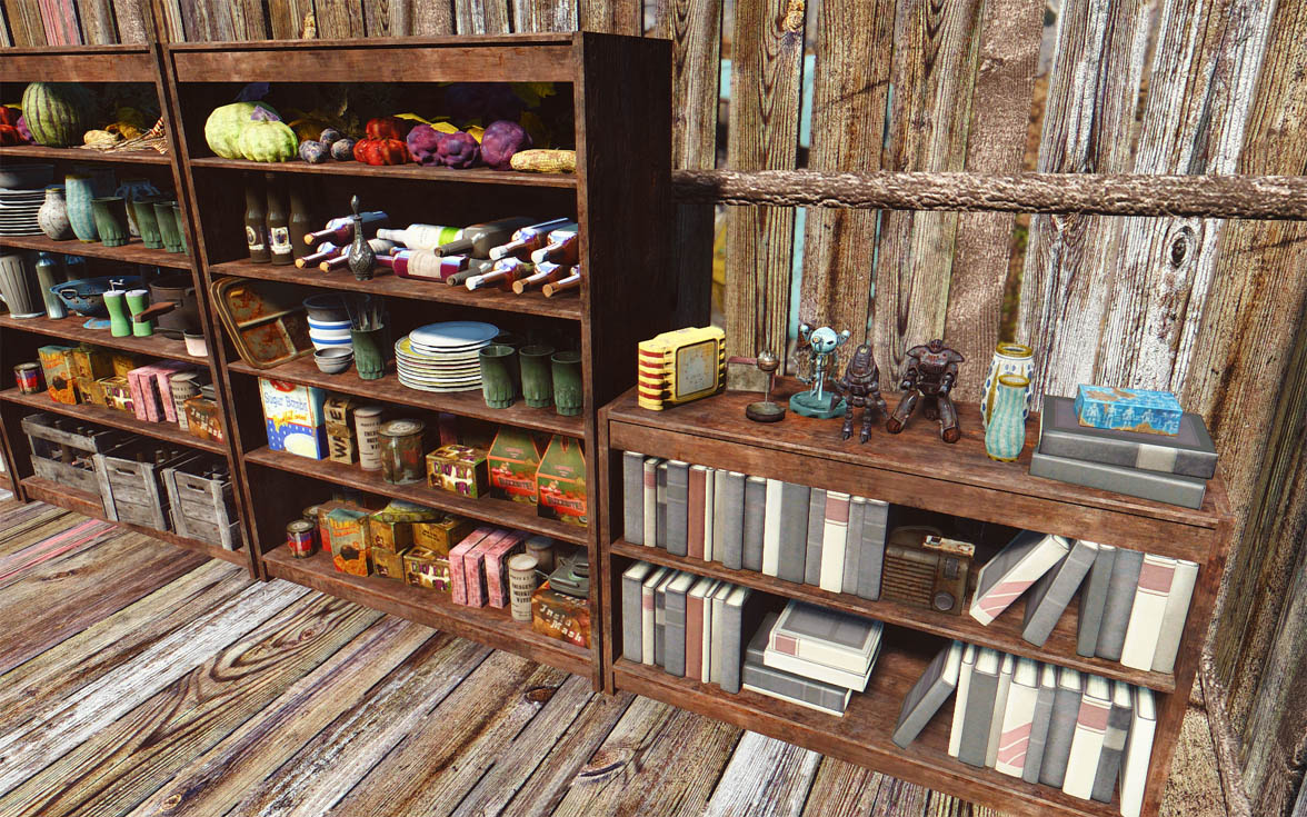 do it yourshelf - clutter for shelves and bookcases at fallout 4