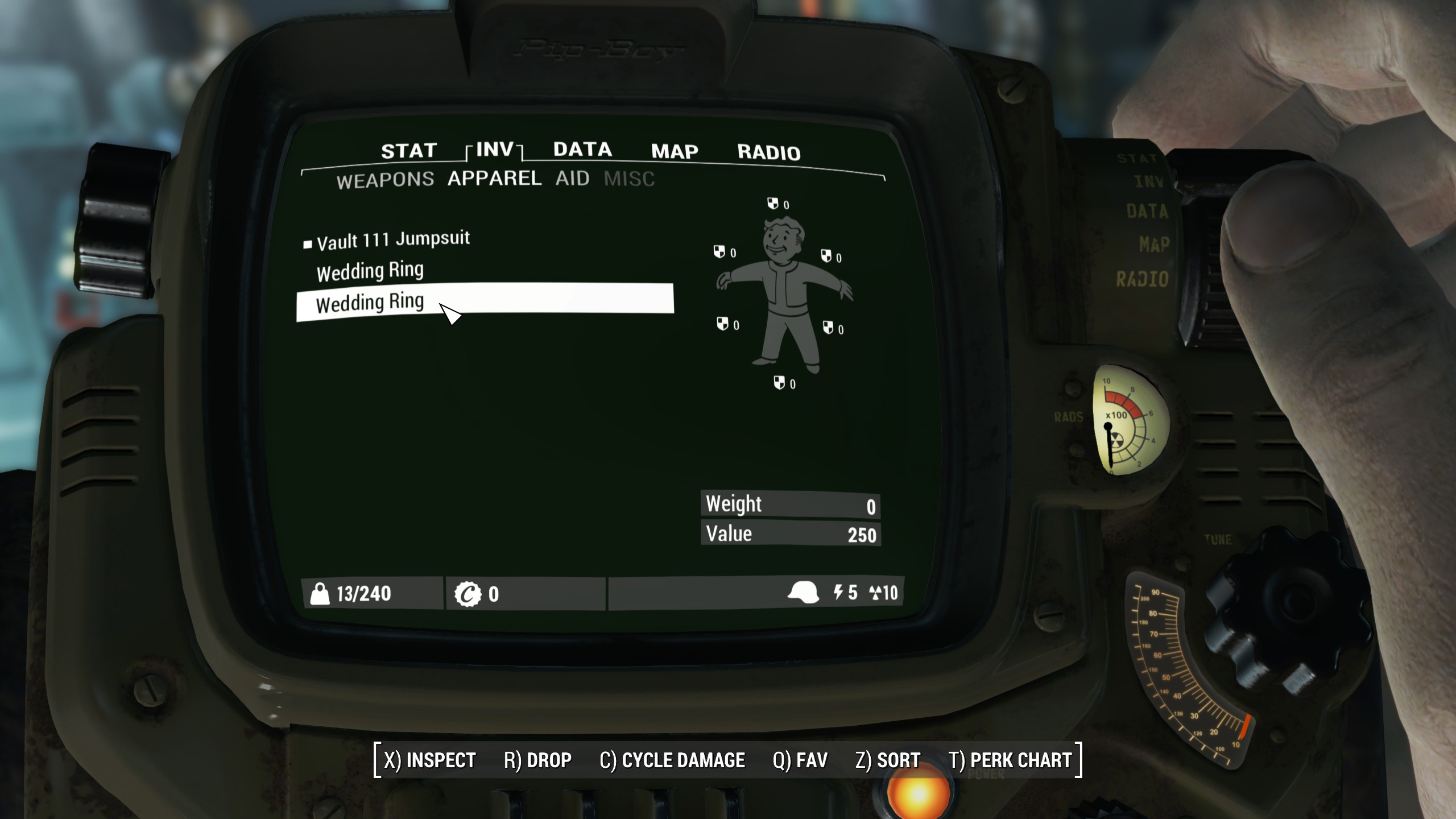 Carry Weight Wedding Rings at Fallout 4 Nexus Mods and community