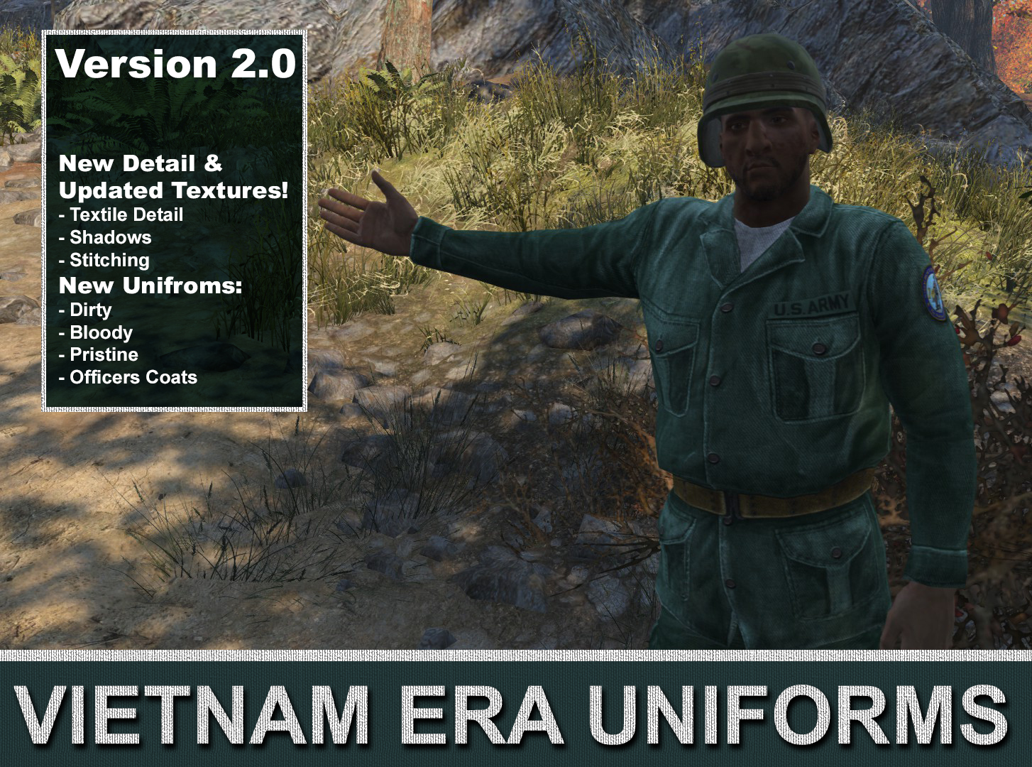 Vietnam Era Military Uniforms - Standalone - Craftable at Fallout 4