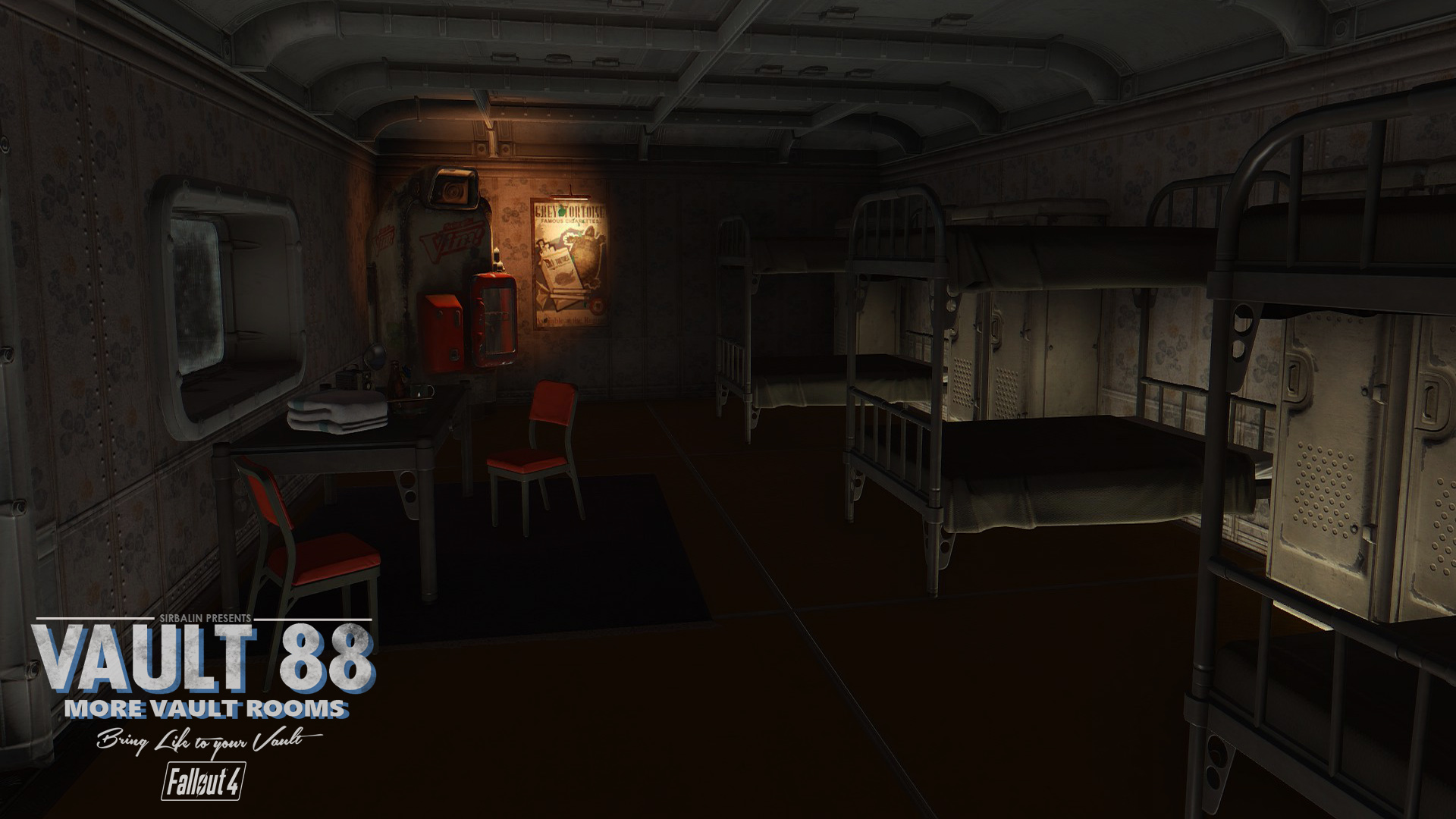 Vault 88 more vault rooms at fallout 4 nexus mods and for Fallout 4 bedroom ideas