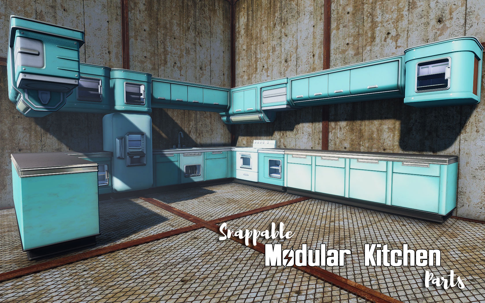 modular kitchen at fallout 4 nexus mods and community. Black Bedroom Furniture Sets. Home Design Ideas