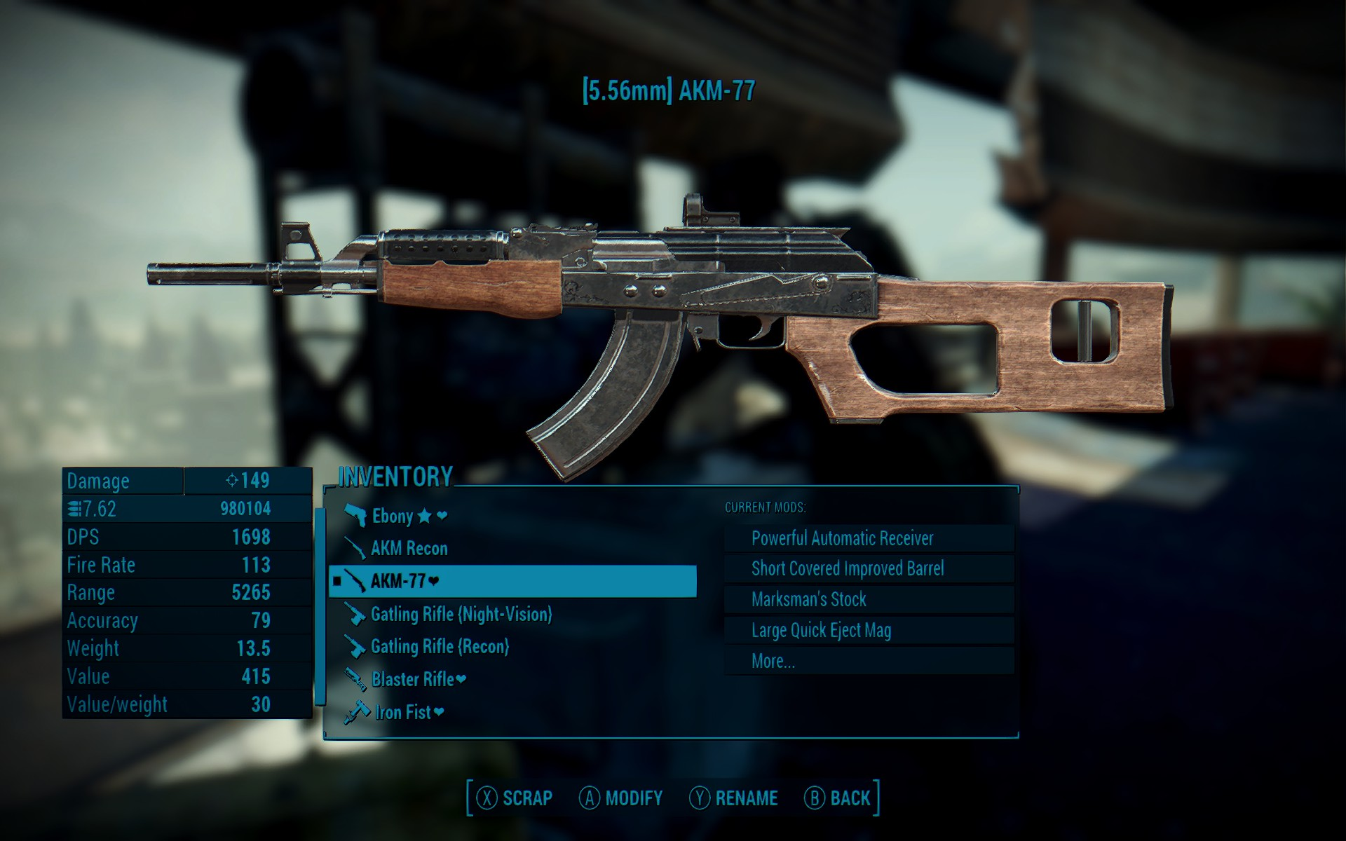 fallout 4 handmade rifle improved handmade rifle at fallout 4 nexus mods 9033
