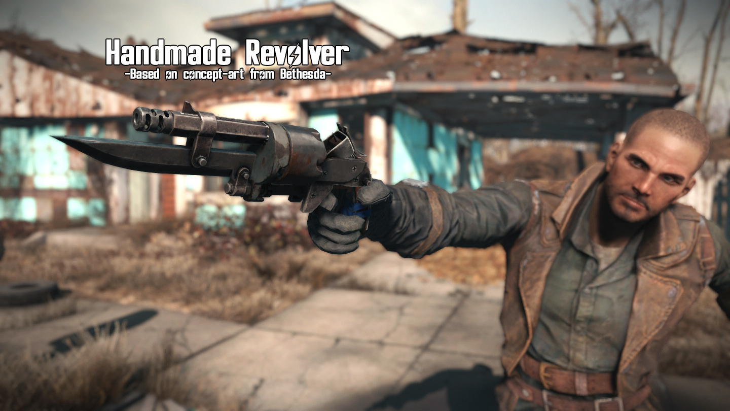 fallout 4 handmade revolver handmade revolver at fallout 4 nexus mods and community 696