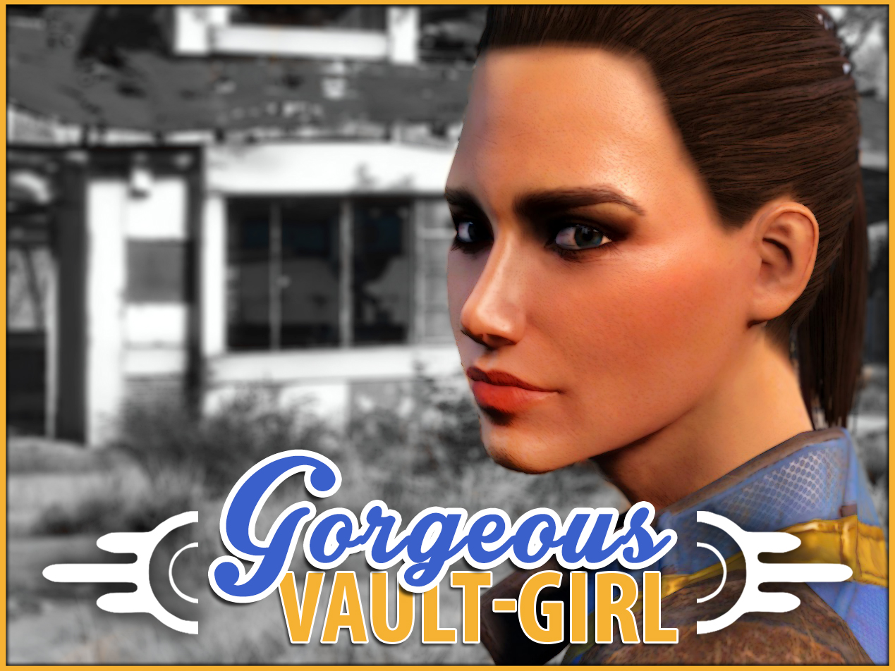 Fallout 4 Character Design Tutorial : Gorgeous vault girl at fallout nexus mods and community