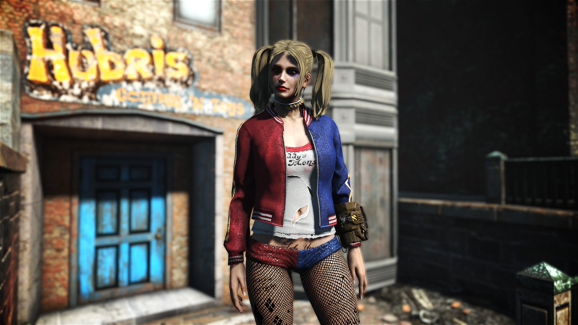 Harley Quinn Outfit CBBE at Fallout 4 Nexus - Mods and community