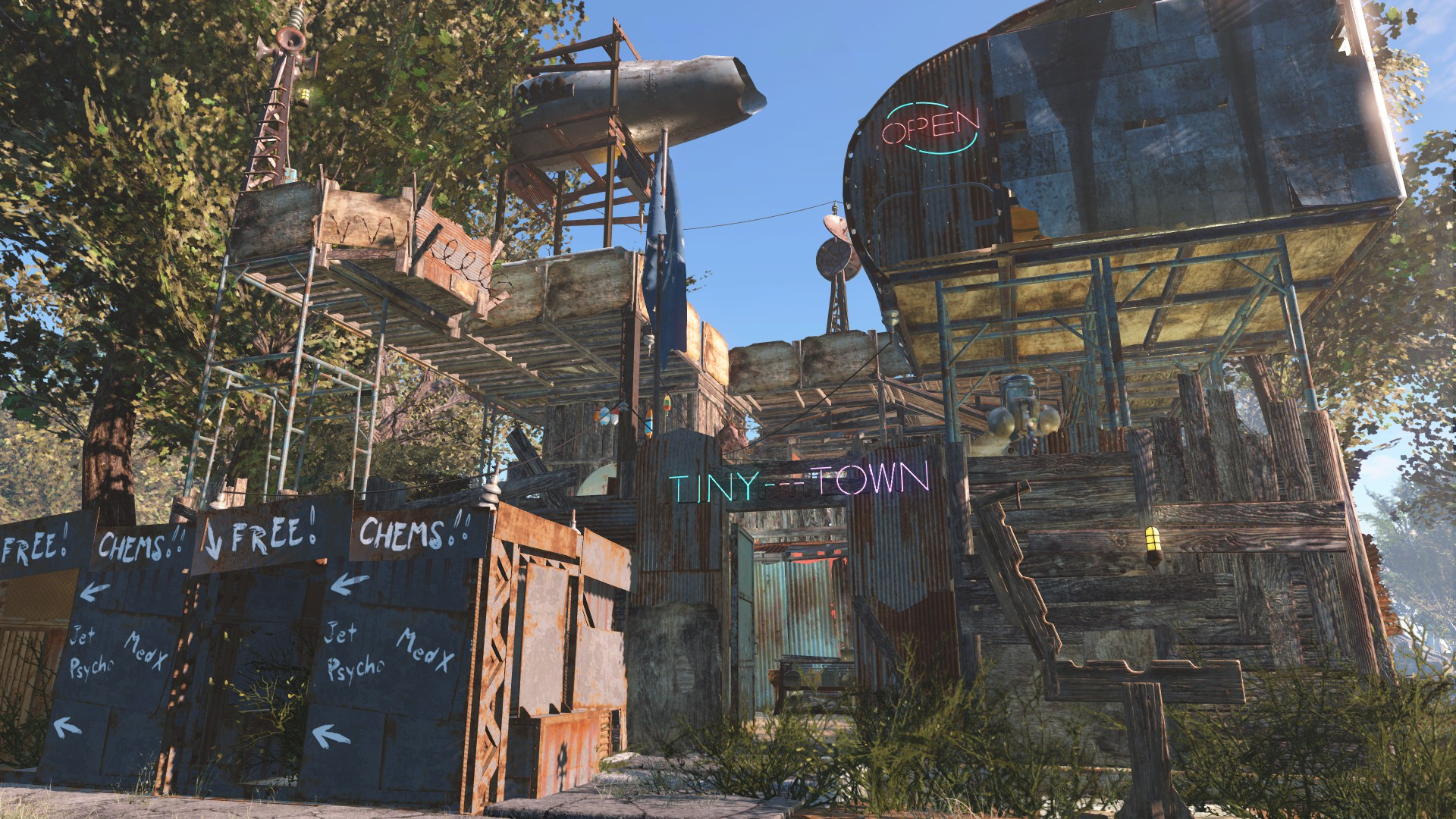 Tiny town settlement blueprint at fallout 4 nexus mods and community - The tiny house village a miniature settlement ...