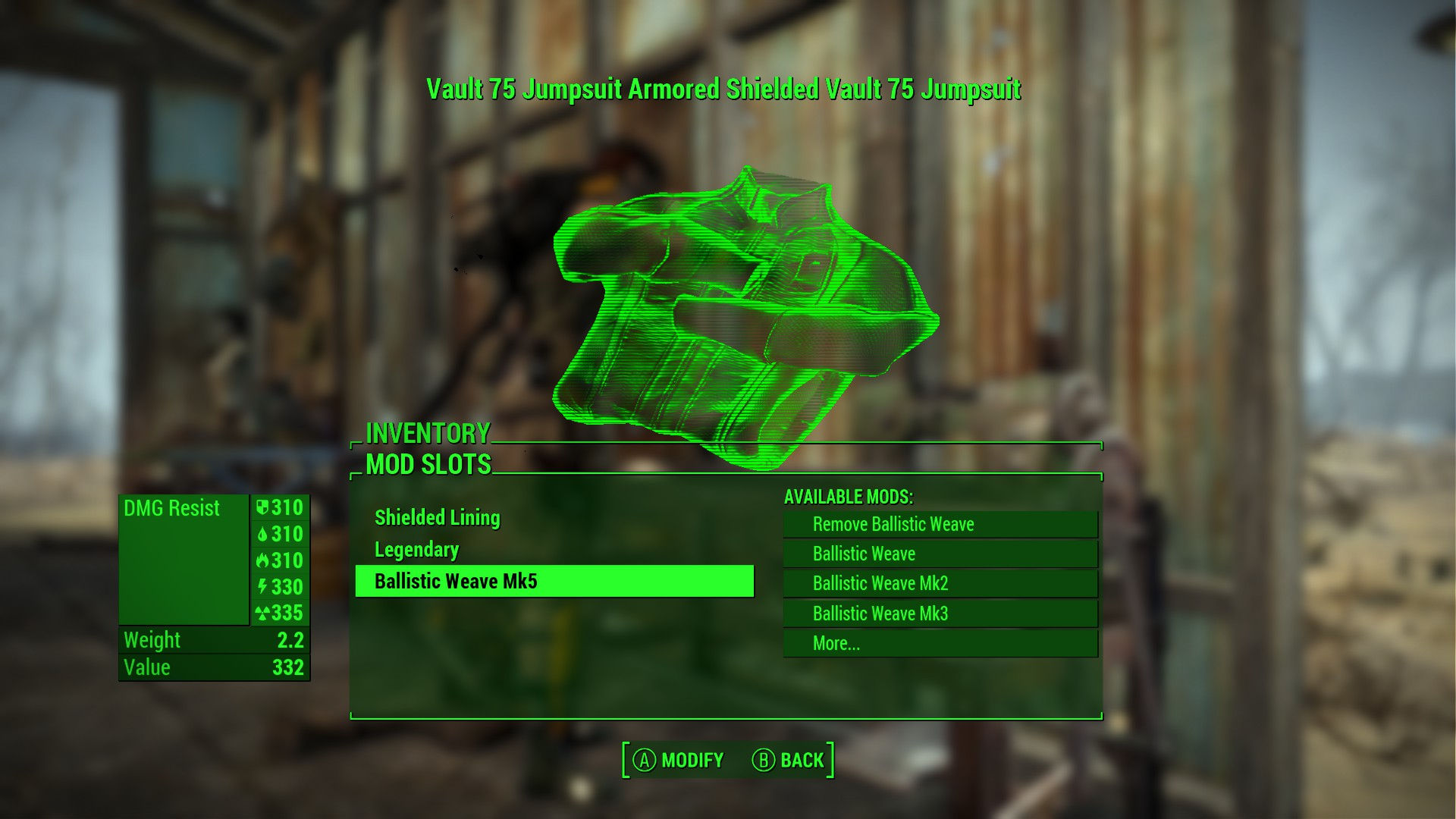 how to get the ballistic weave fallout 4