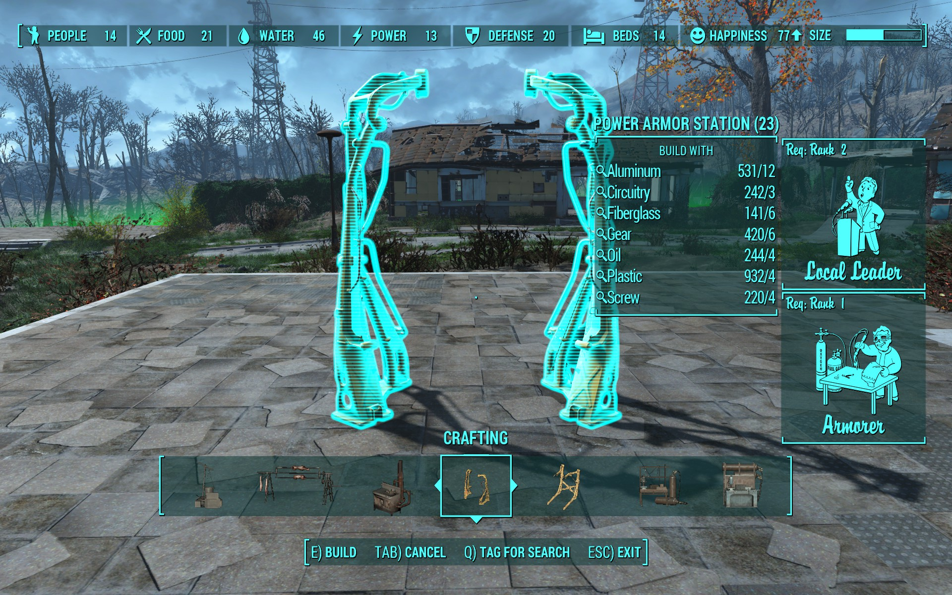 Fallout  Crafting Station Map Location