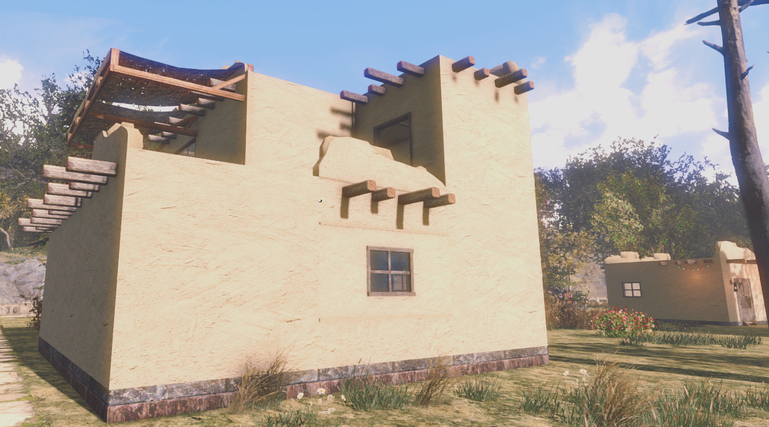 Adobe house kit at fallout 4 nexus mods and community for Best house designs fallout 4