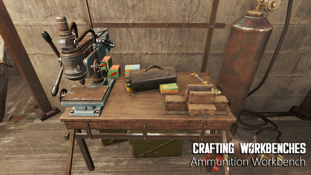 Crafting Workbenches - Craftable Weapons Armor Clothing Ammo Junk at Fallout 4 Nexus - Mods and ...