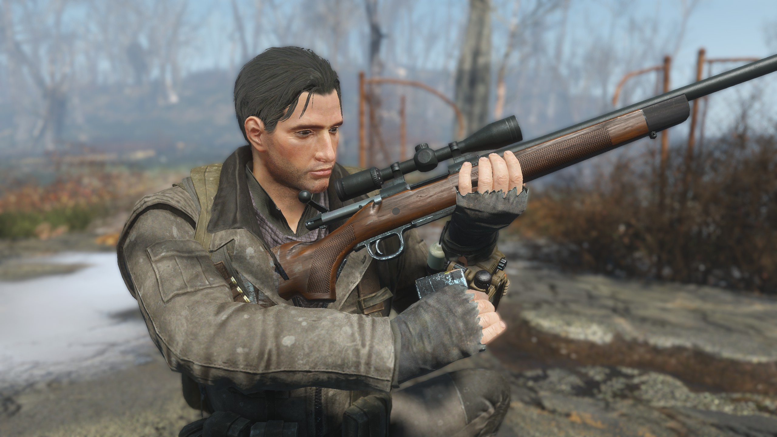The Humble Hunting Rifle at Fallout 4 Nexus - Mods and community