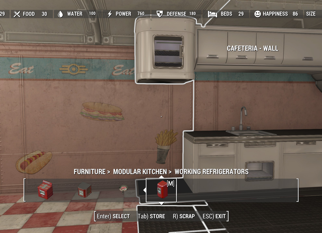 working fridges for modular kitchen at fallout 4 nexus mods and community. Black Bedroom Furniture Sets. Home Design Ideas
