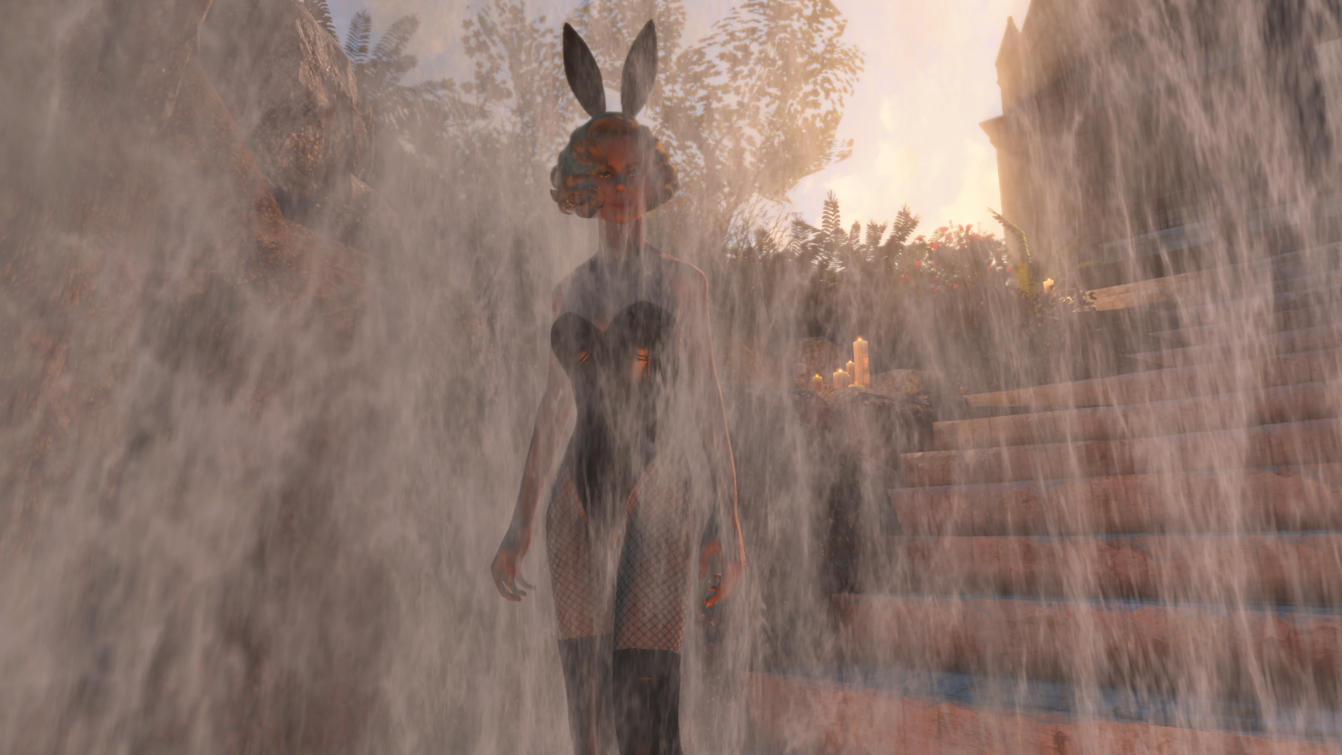 the playboy mansion at coastal cottage blueprint at fallout 4