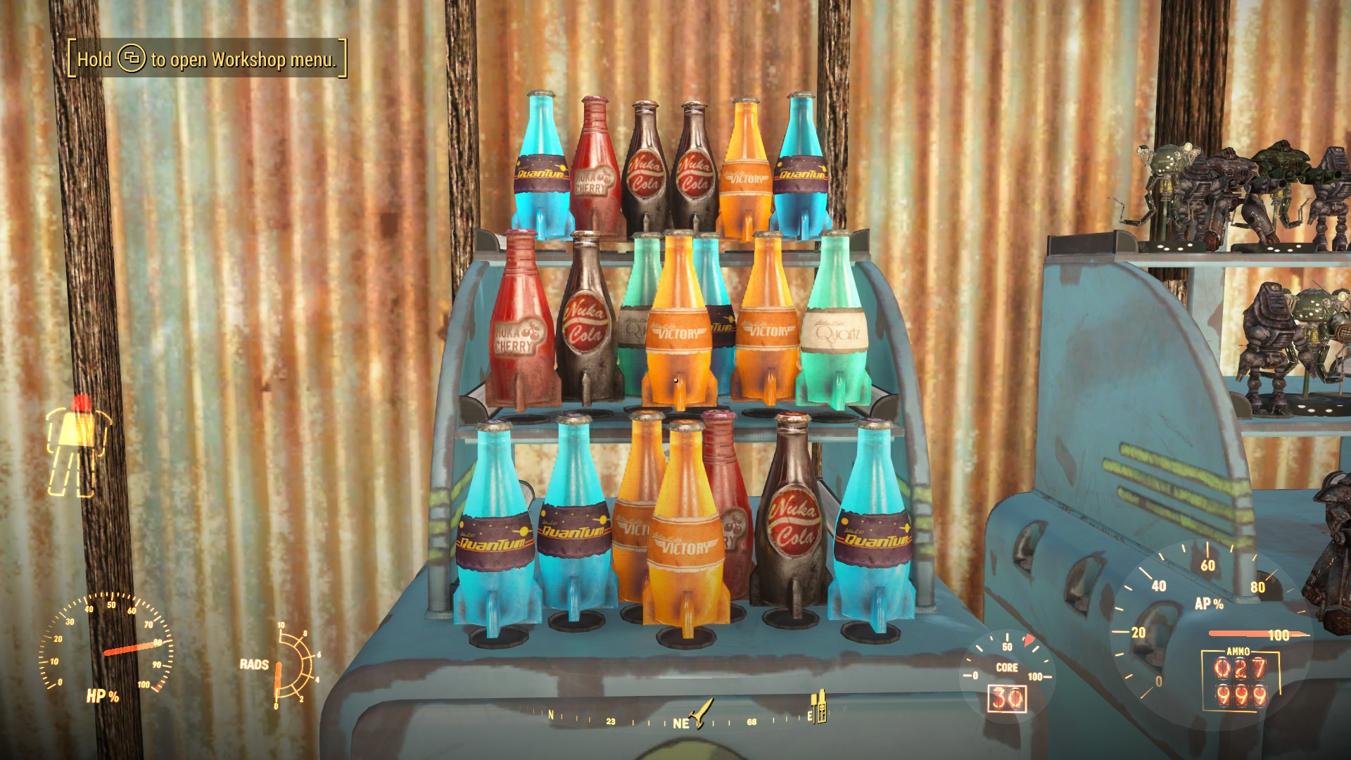 Trade Stands Fallout 4 : Functional display stands model robots nuka cola etc at