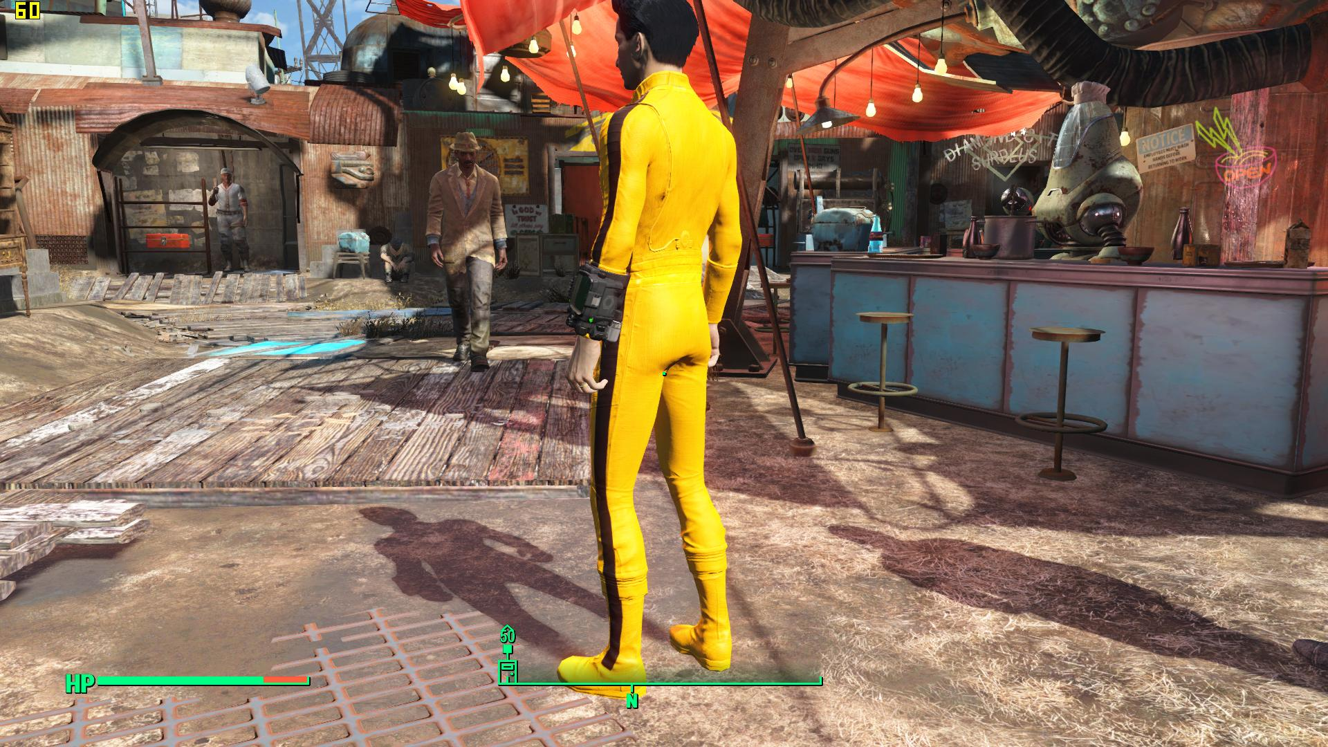 Bruce Lee Uniform Game Of Death Yellow Clothing At Fallout 4 Nexus