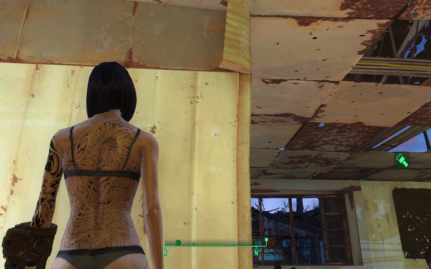 Skulls And Flower Tattoos at Fallout 4 Nexus - Mods and community Unique Flower Tattoos