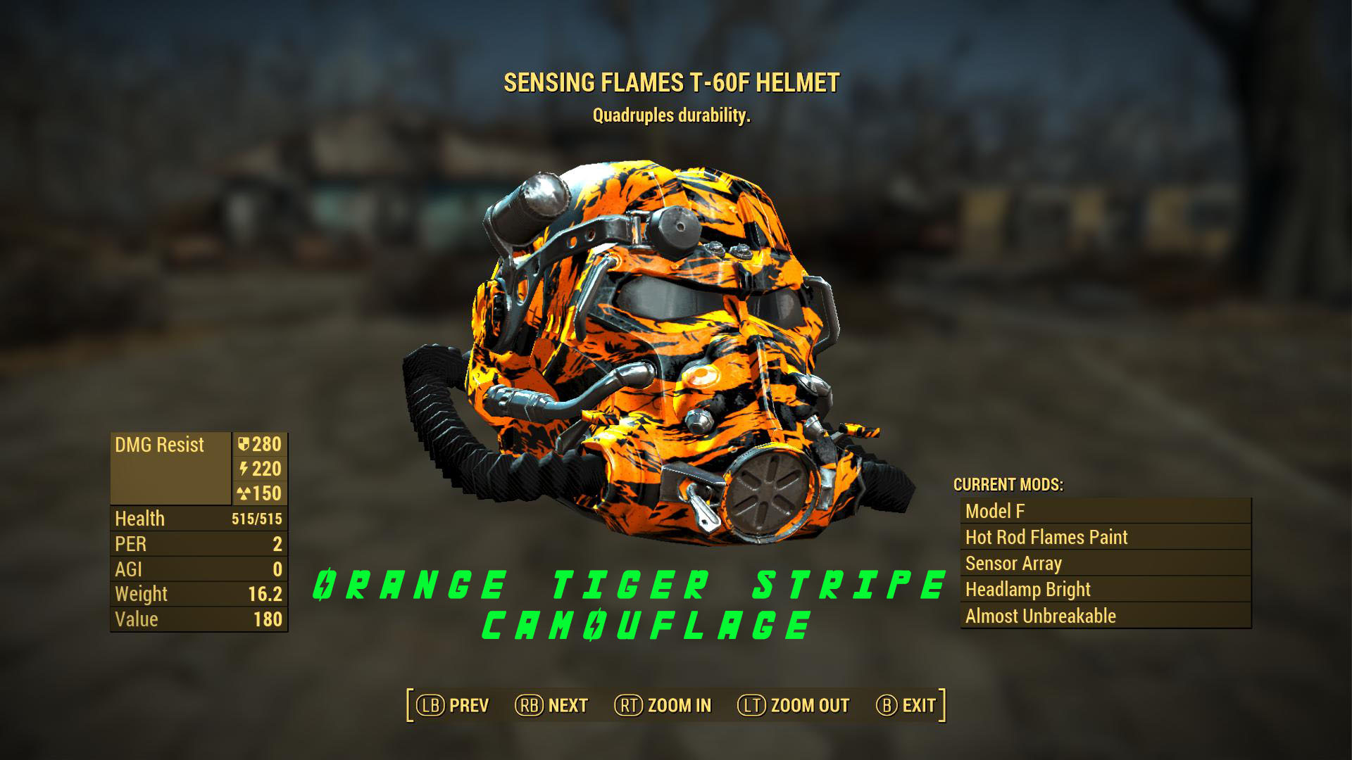 T 60 Power Armor Orange Tiger Stripe Camo By Radulykan At Fallout