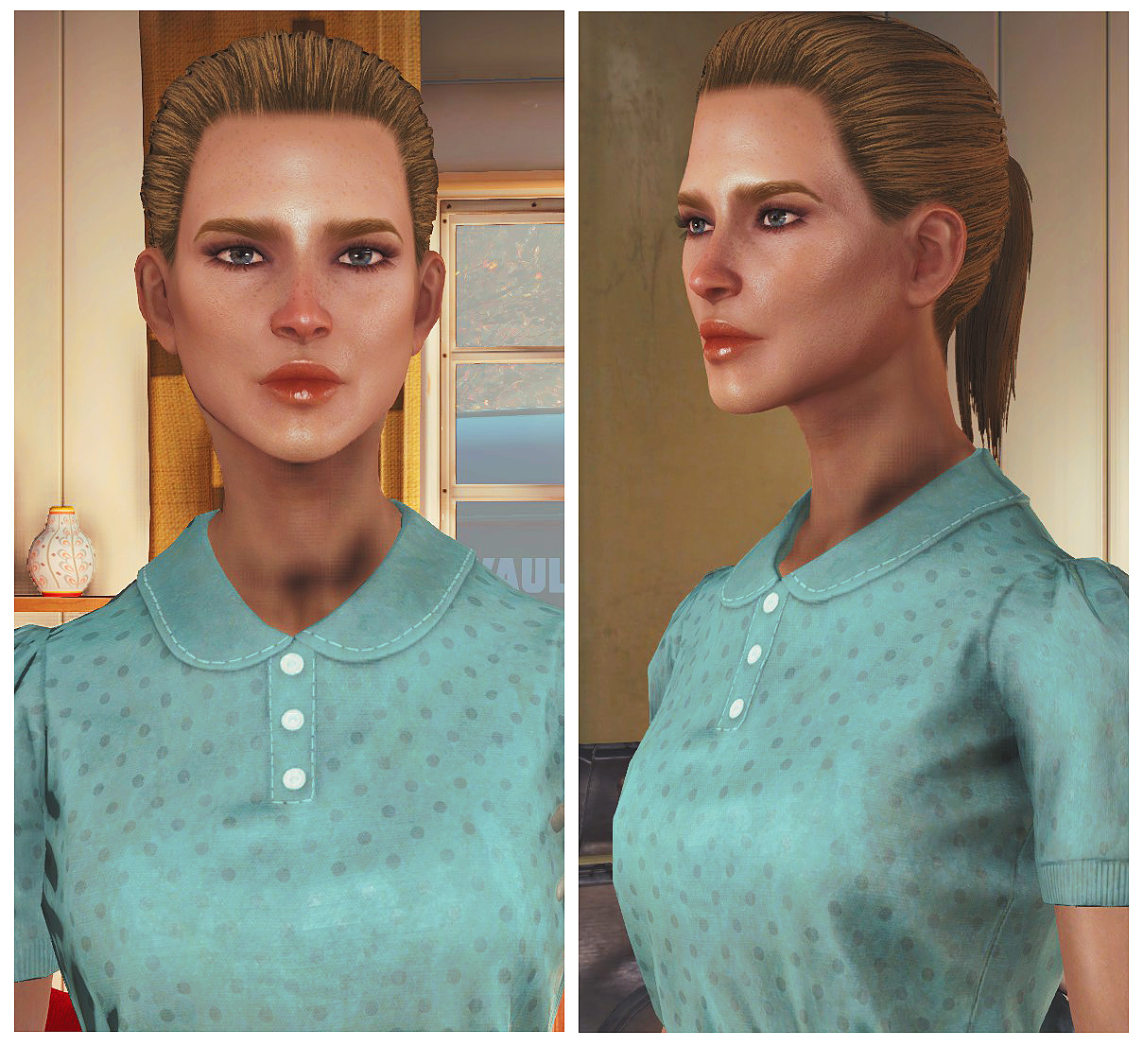 Young Female Face Texture 1.0 для Fallout 4 - Скриншот 2