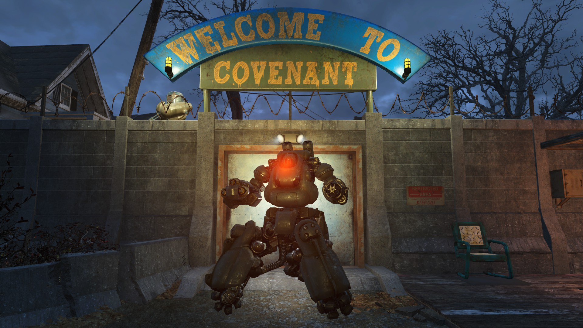 Robot home defence at fallout 4 nexus mods and community for Fallout 4 bedroom ideas
