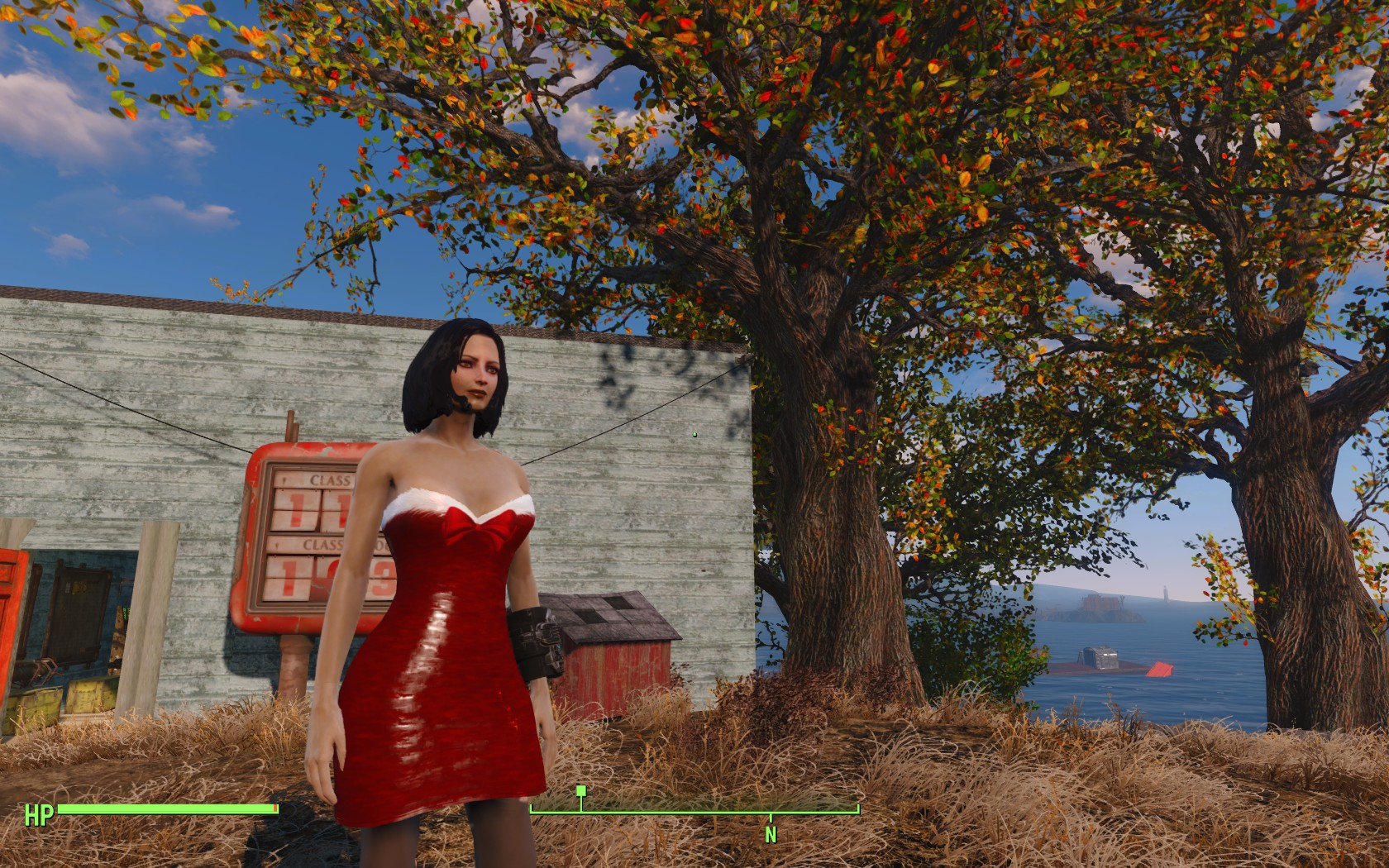 Christmas Dress - Red dress retexture at Fallout 4 Nexus - Mods ...