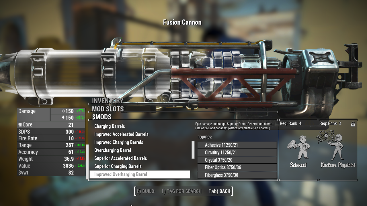 Gatling Laser Overhaul At Fallout 4 Nexus Mods And Community Higher speed values than 1 divide the attack delay and the extra research from the creation kit is perfect, thank you. gatling laser overhaul at fallout 4