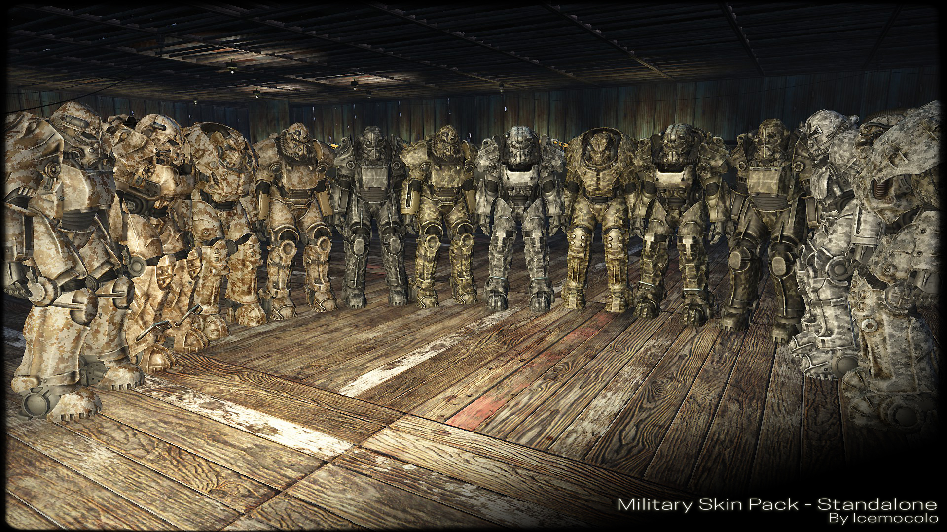 Military Power Armor Skin Pack - Standalone at Fallout 4