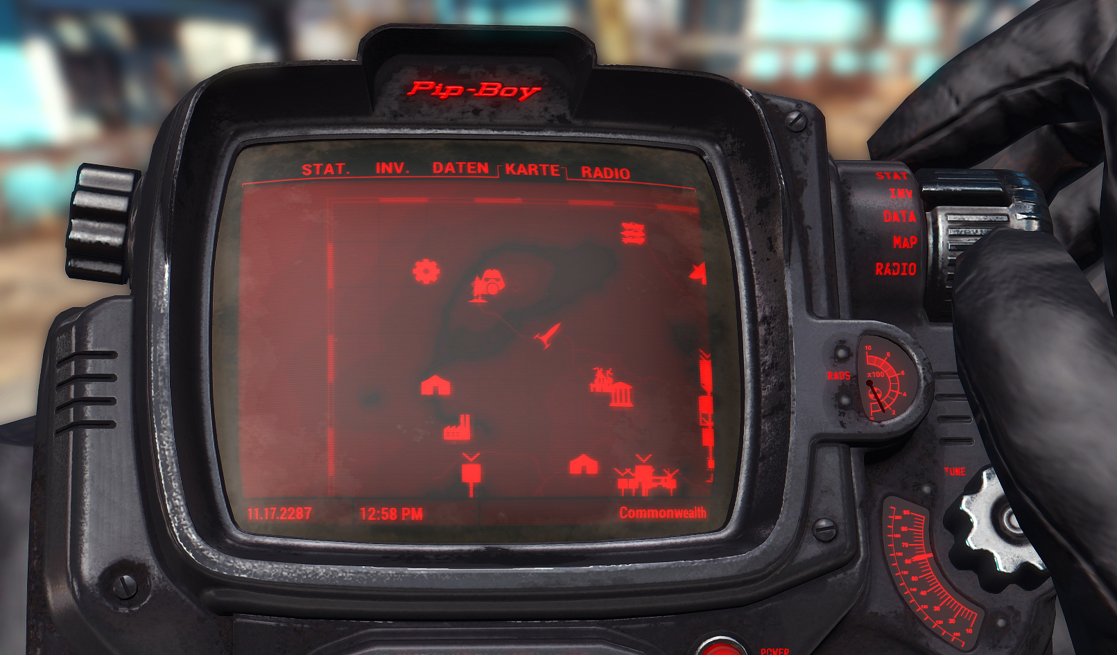 Black Pip-Boy (with colored details) at Fallout 4 Nexus - Mods and