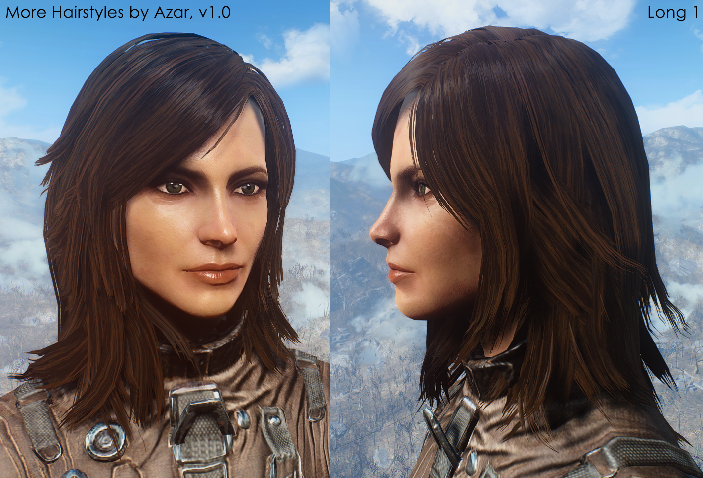 Ponytail Hairstyles By Azar V2 5a At Fallout 4 Nexus Mods And
