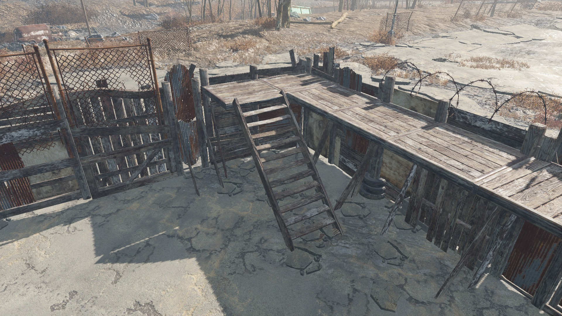 Snapable Junk Fences || Пол к стенам для Fallout 4 - Скриншот 1